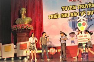 Hội thi tuyên truyền măng non 'Thiếu nhi bảo vệ đường sắt'