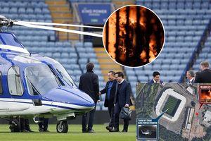 Clip trực thăng của ông chủ Leicester City bốc cháy ngay cạnh SVĐ