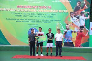 Hoàng Nam – Quốc Khánh đăng quang giải Vietnam F4 Futures 2018