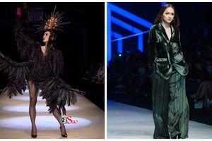 Bế mạc VIFW: BB Trần hóa thành nàng 'quạ đen', catwalk không thua mẫu chuyên nghiệp