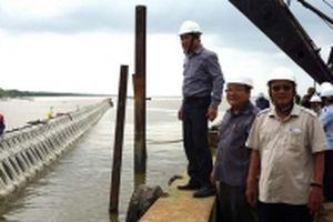 Cà Mau áp dụng công nghệ mới ứng phó sạt lở bờ biển