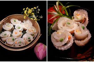 Tự làm há cảo hoa hồng trong veo cực xinh, thơm ngọt vị tôm thịt