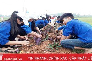 Hơn 800 ĐVTN Can Lộc tham gia xây dựng nông thôn mới