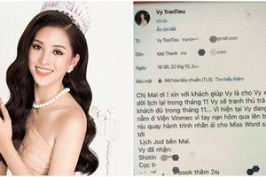 Hoa hậu Trần Tiểu Vy bị kẻ xấu tung tin nhập viện sau đó mạo danh ký hợp đồng quảng cáo bất hợp pháp