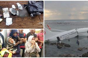 Máy bay Indonesia chở 188 người lao xuống biển - Hiện trường bị gãy làm đôi, hành khách lành ít dữ nhiều