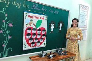 Cô giáo Quảng Trị gây sốt với khả năng sáng tạo đồ dùng dạy học không giới hạn