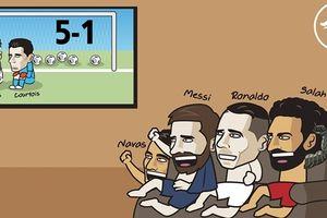Real Madrid 'muối mặt' trên mạng xã hội sau thảm bại 1-5 trước Barca