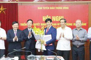 Ban Tuyên giáo Trung ương bổ nhiệm Phó ban mới