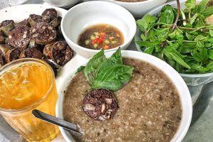Bún lòng, dồi sụn nướng và các món từ nội tạng cho chiều thong dong