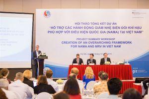 Tổng kết Dự án NAMA giảm thiểu và thích ứng với biến đổi khí hậu