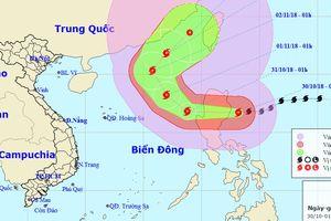 Vùng biển bắc Biển Đông động dữ dội do ảnh hưởng bão Yutu
