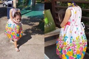 Bé gái 2 tuổi Philippines nổi tiếng khắp thế giới vì màn cầm đầu đi xin kẹo Halloween