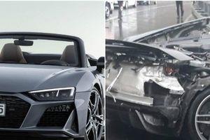 Kinh hoàng Audi R8 bị 'xé đôi' sau tai nạn thảm khốc