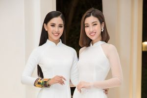 Bộ đôi Hoa hậu Tiểu Vy - Mỹ Linh lần đầu đọ sắc 'một chín một mười' tại sự kiện
