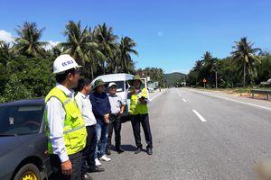 Giám sát BOT Bắc Bình Định khắc phục mặt đường sau dừng thu phí