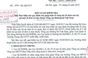 Nhiều 'khoảng tối' trong bổ nhiệm nhân sự ở Tổng cục Đường bộ Việt Nam