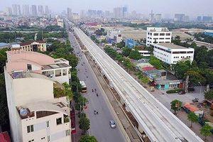 Đường sắt đô thị (đoạn Nhổn - Ga Hà Nội) đạt 45% khối lượng