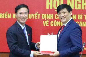 Thứ trưởng Bộ Y tế giữ chức Phó Trưởng Ban Tuyên giáo Trung ương