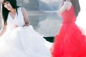 Phương Thanh mặc váy cưới, úp mở chuyện bí mật lấy chồng