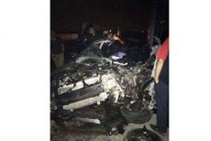 Xe tải va chạm xe con trên cao tốc Hạ Long-Hải Phòng, hai người tử vong