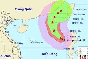 Bão Yutu vào biển Đông thành bão số 7, chuyển ngoặt hướng di chuyển