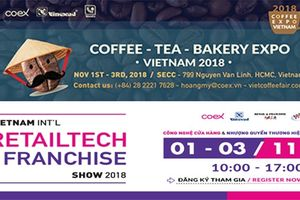Sắp diễn ra hai triển lãm quốc tế lớn về cà phê và nhượng quyền thương hiệu