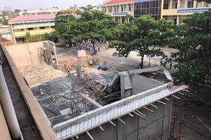 Đang thi công, công trình hội trường trường học 1,7 tỷ đồng ở Đồng Nai đổ sập