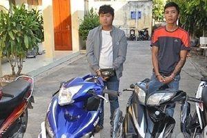 Bắt nhóm đối tượng gây ra hàng loạt vụ trộm xe máy
