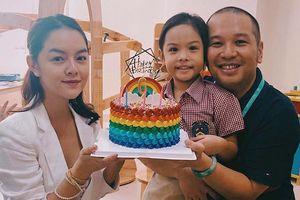 Phạm Quỳnh Anh và Quang Huy bên nhau mừng sinh nhật con gái