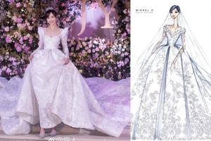 4 váy cưới xa xỉ, tốn hàng nghìn giờ làm thủ công của Đường Yên