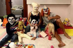 Đại gia đình C.Ronaldo, Messi 'hóa quỷ' trong ngày Halloween!