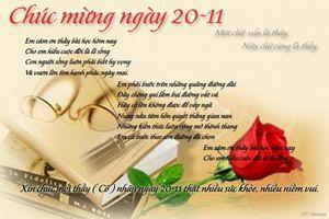 Những bài thơ hay tặng thầy cô ngày 20 -11