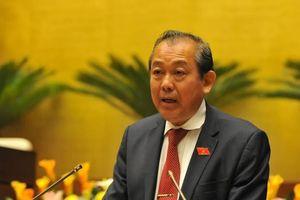Phó Thủ tướng Trương Hòa Bình: 'Quốc hội, Chính phủ sẽ cụ thể hóa quy định từ chức'