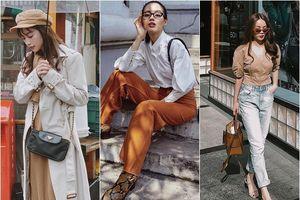 Sao Việt xuống phố ngày Thu cùng fashions phủ sắc camel