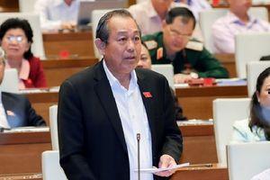 Phó Thủ tướng trả lời chất vấn về nêu gương 'chủ động xin từ chức'