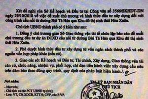 Giả văn bản chủ tịch Đà Nẵng để thổi giá đất