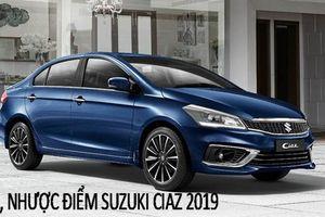 'Đặt bàn cân' ưu - nhược điểm và giá cả Suzuki Ciaz 2019