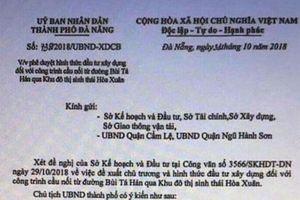 Giả công văn Chủ tịch UBND TP. Đà Nẵng nhằm tạo 'cơn sốt' đất