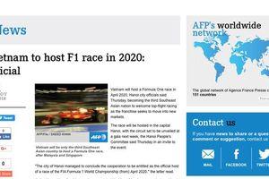 Báo chí thế giới đồng loạt đưa tin Việt Nam tổ chức đua xe F1