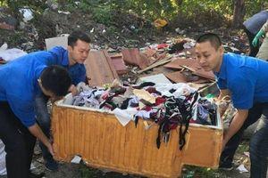 Tuổi trẻ xã Yên Viên ra quân vệ sinh môi trường