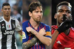 10 ngôi sao bóng đá giàu nhất thế giới 2018: Ronaldo chào thua Messi