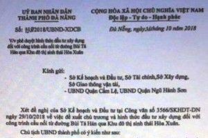 Xác minh vụ việc giả mạo chữ ký Chủ tịch UBND TP Đà Nẵng