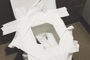 Vì sao không nên lót giấy lên nhà vệ sinh công cộng khi đi du lịch?