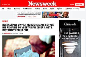 Cảnh sát Thái Lan họp báo lên tiếng vụ thịt người trong món ăn chay
