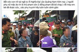 Người bị nghi bắt cóc trẻ em ở Quảng Nam là bệnh nhân tâm thần