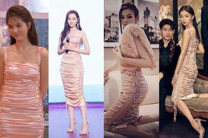 1 chiếc váy 4 số phận: Ngọc Trinh, Ngô Cẩn Ngôn, Địch Lệ Nhiệt Ba đều 'lép vế' trước bà mẹ 2 con này