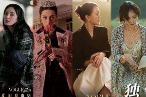 Dàn 'mỹ nhân' Châu Tấn, Dương Mịch, Địch Lệ Nhiệt Ba cùng Triệu Vy và Đường Yên tham dự 'LHP thời trang VogueFilm 2018'