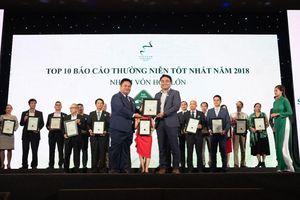 TTC Sugar vinh dự đạt giải Top 10 doanh nghiệp có Báo cáo thường niên tốt nhất 2018