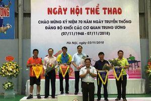 Sôi động Ngày hội thể thao chào mừng 70 năm Đảng bộ Khối các cơ quan Trung ương