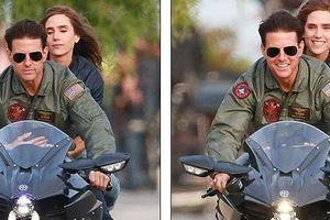 Tom Cruise điển trai, hôn người đẹp tái hiện cảnh cưỡi mô tô kinh điển
